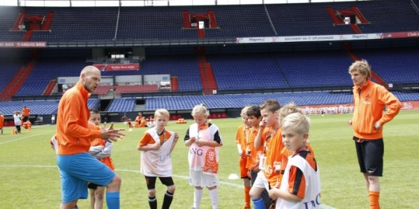 Voetbalclinic betaald voetbal club